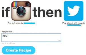 recipe ifttt instagram a twitter