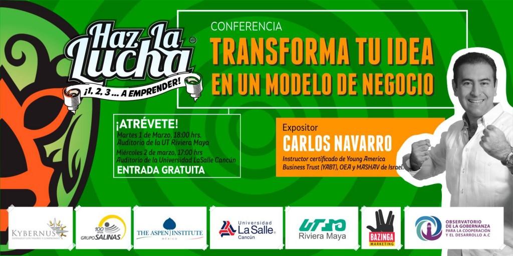 Conferencia: Transforma tu idea en un modelo de negocio